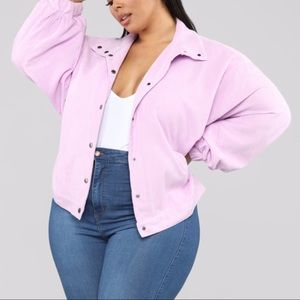 Fashion Nova Oversized Corduroy Jacket Lavender 3X